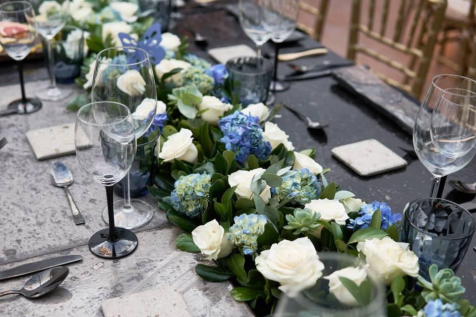 Centros de mesa en jardinera