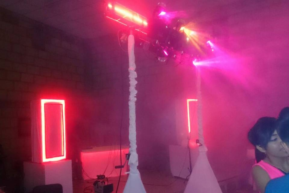 Bocinas con luz led