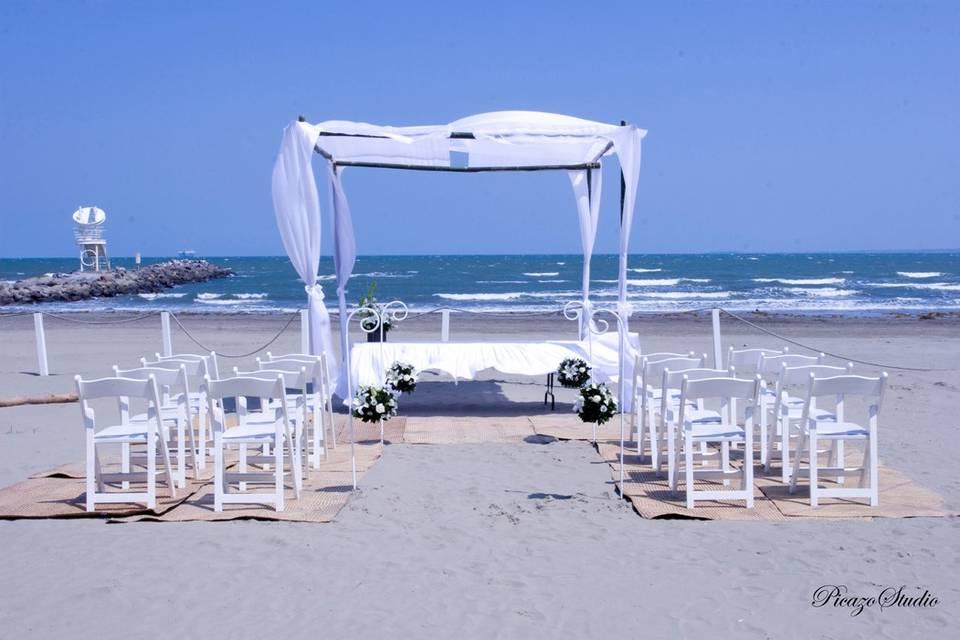 Ceremonia civil club de playa