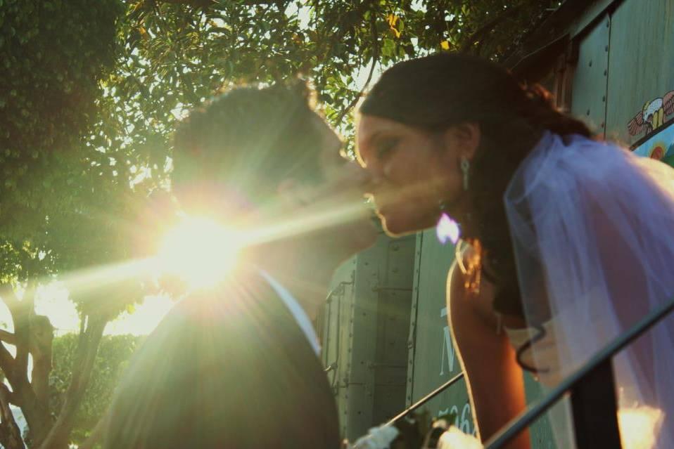 El amor con un beso